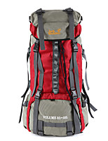 80 L Mochila para Excursão Alpinismo Esportes Relaxantes Acampar e Caminhar Prova-de-Água Á Prova-de-Pó Vestível Multifuncional