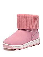 Zapatos de mujer - Tacón Bajo - Punta Redonda - Botas - Casual - Tejido - Negro / Rosa / Caqui