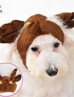 FUN OF PETS® Cute Brown David's Deer Shape Fleece Hat for Pets Dogs (Assorted Sizes)