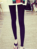 Women Solid Color Legging , Cotton Thin
