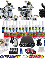 Solong Tattoo Complete Tattoo Kit 2 Pro Machine Guns 28 Inks Power Supply Needle Grips