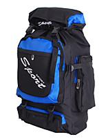 60 L Travel Duffel / Rucksack Camping & Wandern / Reisen Draußen / Leistung Schnell abtrocknend / Stoßfest / tragbar / Multifunktions Blau