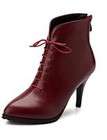 Women's ShoesStiletto Heel Heels / Pointed Toe Heels / Boots Office & Career / Dress Black / Blue / Burgundy