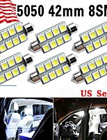 6 X 42MM 8 5050 Festoon Super White 211-2 578 569 Dome Map Interior LED Light bulb
