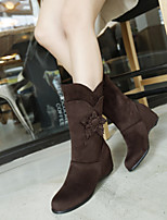 Women's Shoes Leatherette Wedge Heel Wedges / Snow Boots / Office & Career / CasualBlack / Blue / Brown / Green