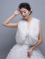 Ivory Sleeveless Wedding Wraps Imitation Cashmere Vests