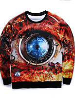 Men's Print Casual / Work / Formal / Sport Hoodie & Sweatshirt