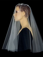 Wedding Veil One-tier Blusher Veils / Elbow Veils / Fingertip Veils Cut Edge