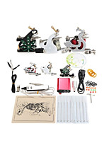 Tattoo Machine Complete Kit Set 3 Guns Machines 10PCS tattoo ink Tattoo kits