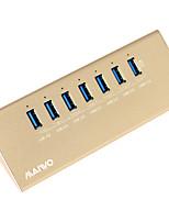 maiwo kh107 USB3.0 hub usb 7port com um porta carregador inteligente