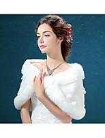 Wedding / Party/Evening Faux Fur Shawls / Stoles Sleeveless Wedding  Wraps