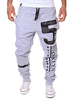 Men's Sweatpants , Casual Print Cotton Blend