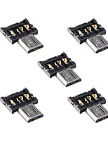 5pcs ultra mini dm micro usb 5pin connettore dell'adattatore OTG per tablet cellulare& cavo USB& Flash Disk