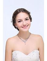 Women's Silver / Alloy Jewelry Set Crystal / Rhinestone / Cubic Zirconia
