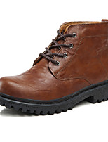 Men's Shoes Outdoor / Office & Career / Casual Leather Boots Black / Brown
