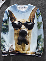 Men's High Quality Creative Print Animals Lovely Pattern Simple Fashion Personality Stereo 3D Sweater —— Glasses Dog