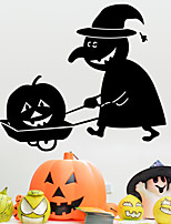 2015 New Wall Stickers Single Halloween Pumpkin Head And Carved Wall Sticker PVC 51*55cm
