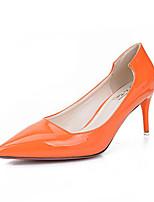 Women's Shoes Stiletto Heel Pointed Toe Heels Casual Black / Gray / Orange
