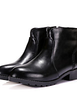 Women's Shoes Leatherette Low Heel Fashion Boots Boots Outdoor / Dress / Casual Black / Yellow / Red