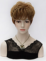 Vogue Universal Short Curly Medium Brown Harajuku Fashion Party Synthetic Purecas Wig