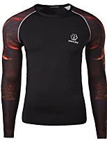 Men's Tight Quick Drying Jersey T-Shirt , Cotton / Polyester Casual / Plus Sizes Print