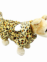 Pet Clothes Yellow Leopard / Cosplay Cotton / Polar Fleece Hoodies For Dogs / Cats