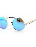 100% UV400 Round Fashion Metal Punk Sunglasses