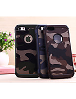 Para Funda iPhone 5 Antigolpes Funda Cubierta Trasera Funda Color Camuflaje Dura Policarbonato iPhone SE/5s/5