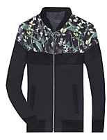 Men's Long Sleeve Regular Fit Print Jacket