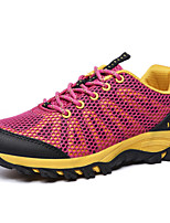 Women's Sneakers Spring Fall Comfort PU Outdoor Casual Lace-up Light Blue Light Purple Fuchsia Hiking
