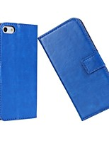 Luxury Solid color Light Surface Pattern Hard Case with Magnetic Snap and Card Slot for iPhone 5C (Assorted Colors)