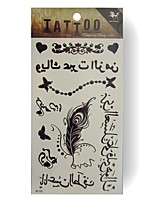Tatuaggi adesivi - Serie fiori - King Horse - Bambino / Da donna / Girl / Adulto / Teen - 5pcs - Modello - di Carta - 20.5*10cm - Bianco -