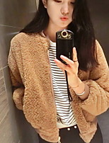 Women's Solid White / Black / Camel Cardigan , Casual Long Sleeve