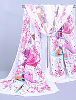 Women's Chiffon Colorful Print Scarf
