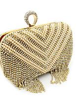 Women Satin Flap Clutch / Evening Bag - Gold