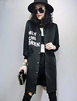 Damen Trench Coat  -  Leger Langarm Baumwolle