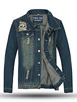 Men's Long Sleeve Jacket , Denim Casual / Sport Pure