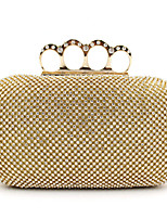 Women Metal Minaudiere Clutch / Evening Bag - Gold / Silver / Black