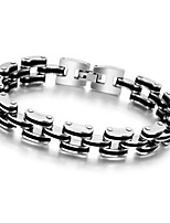 Fashion Men Jewelry Stainless Steel Titanium Steel Bracelet and Bangle Black and Silver