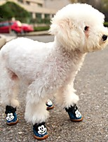 FUN OF PETS® Micky Mouse Decorated Leopard Fastener Tape Shoes for Pets Dogs (Assorted Sizes and Colours)