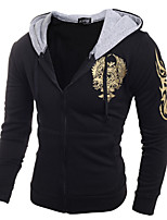 Men's Daily Casual Sports Hoodie Printing Hooded strenchy Cotton Long Sleeve Spring Fall Winter