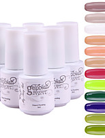 YeManNvYou®5pcs Sequins UV Color Gel Nail Polish Suit No.85-96(5ml, 3PCS Nail Polish +1PCS Base Coat + 1PCS Top Coat)