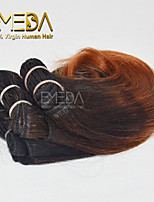 New 3pcs/set Ombre Human Virgin Short Hair Weave Wet Wavy Ombre 2 tone Color #1b/33 8inch 6 colors availabe