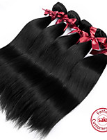 Brazilian Virgin Straight Wave Hair Weft 1B Natural Color Brazilian Virgin Hair Unprocessed Human Hair Weaving 2pcs/lot