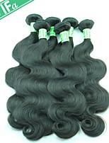 onda del corpo indiana capelli vergini non trattati 5pcs remy umani / lotto capelli neri 1b tesse