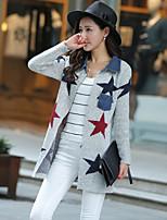 Women's Galaxy Gray Cardigan , Casual Long Sleeve