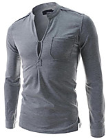 Men's Long Sleeve T-Shirt , Cotton Casual Pure
