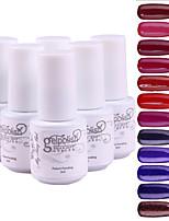 YeManNvYou®5pcs Sequins UV Color Gel Nail Polish Suit No121-132(5ml, 3PCS Nail Polish +1PCS Base Coat + 1PCS Top Coat)