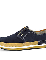 Men's Shoes Office & Career / Athletic / Casual Leather / Suede Oxfords Blue / Brown / Yellow