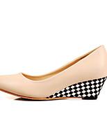 Women's Shoes Leather Chunky Heel Peep Toe / Slingback / Closed Toe Heels Outdoor / Office & Career